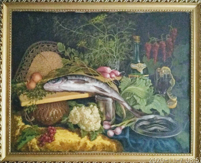 натюрморт рыбой фото